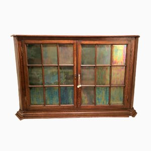 Antique Display Cabinet Commode in Solid Wood