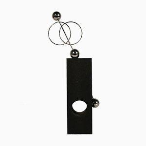 Danish Metal and Wood Pendulum Decorative, 1960s