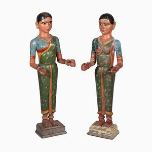 Indian Sculptures of Couple, Set of 2