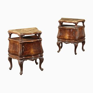 Chippendale Style Nightstands, Set of 2