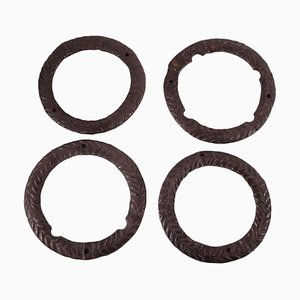 Decorative Elements in Wrought Iron, Set of 4