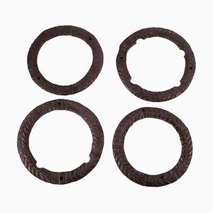 Elementi decorativi in ferro battuto, set di 4