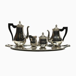 Antique Silver Coffee and Tea Service Set