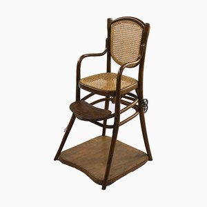 Antique Children's High Chair from Thonet