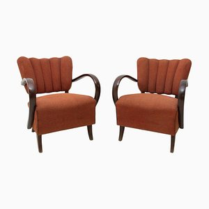 H-237 Cocktail Armchairs by Jindrich Halabala, Czechoslovakia, 1950s, Set of 2