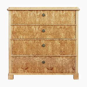 19th Century Swedish Burr Birch Chest of Drawers