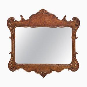 Georgian Style Carved Walnut Wall Mirror, 1920s