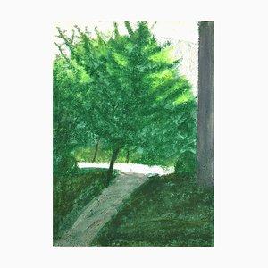 Landscape - Original Mixed Media on Cardboard by Sun Jingyuan - 1970s 1970s