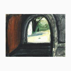 Landscape - Original Mixed Media on Cardboard by Sun Jingyuan - 1970 1970
