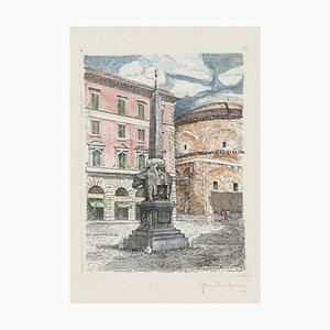 Minerva Square - Original Radierung von Giuseppe Malandrino - 1970s 1970s