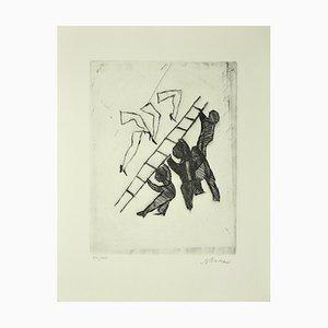 Assault - Original Radierung auf Papier von Mino Maccari - ca. 1960 1960er Jahre