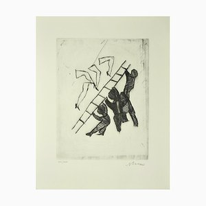 Gravure à l'Eau-Forte originale par Mino Maccari - 1960 ca. 1960 env.