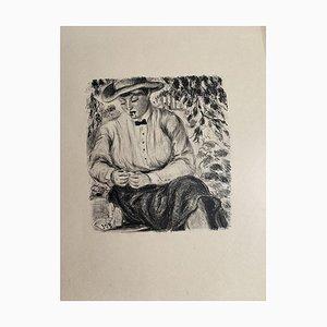 Waiter - Original Lithograph on Paper - 20th Century 20th Century