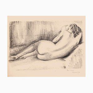 Nude - Original Lithograph on Paper by Pierre Guastalla 1950s