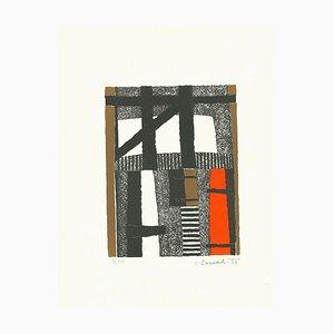 Gestreifte Komposition - Original Lithografie - 1966 1966