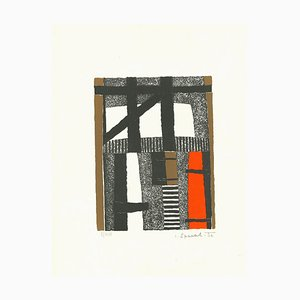 Striped composition - Original Lithograph - 1966 1966