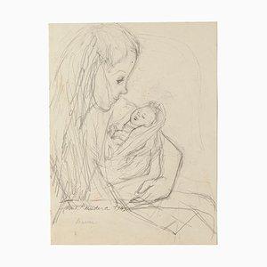 Madam Rundera - Original Pencil on Paper by Jeanne Daour - 1949 1949