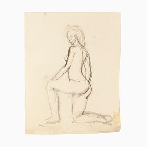 Nude - Original Watercolor on Paper by Jeanne Daour - 20th Century 20th Century