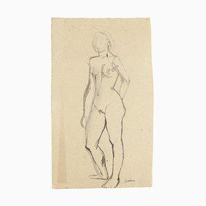 Nude - Original Aquarell von Jeanne Daour- 20. Jahrhundert 20. Jahrhundert