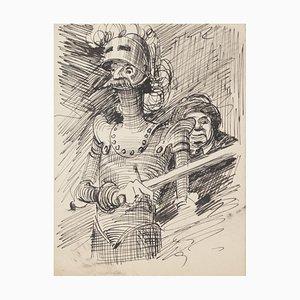 Don Quichote/Caricature - Original Pen Drawing - 20th Century 20th Century