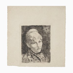 Portrait - Original Radierung Druck - 20. Jahrhundert 20. Jahrhundert