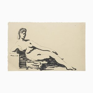 Study for Statue - Original Ink Drawing - 20th Century 1935