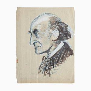 Portrait - Original Mixed Media Drawing - 20th Century 20th Century