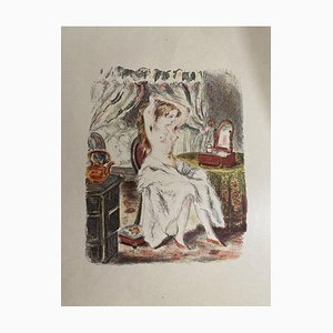 Woman Portrait - Original Lithograph on Paper - 20th Century 20th Century