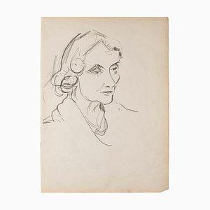 Portrait - Original Pencil on Paper - 1950 1950