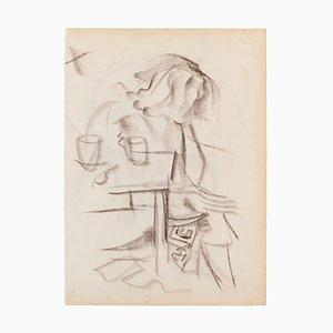 Figure - Original Pastel on Ivory Paper - 1950 1950