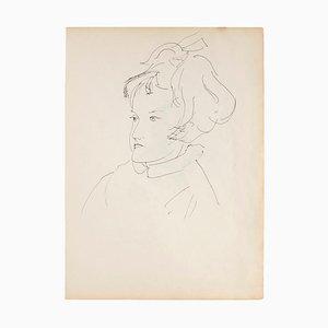 Portrait - Original Pen on Ivory Paper - 1950 1950
