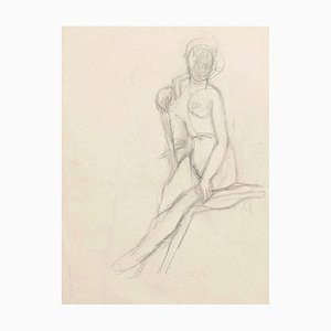 Nude - Original Pencil on Paper by Jeanne Daour - 1939 1939