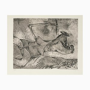 Figure in Space - Original Etching by Gianni Dova - 1970 1970