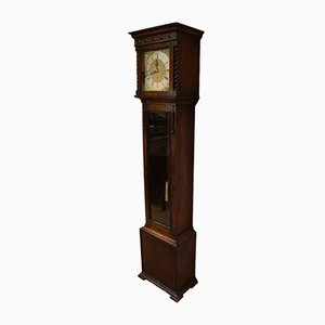 Small Oak Westminster Chime Longcase Clock, 1920s