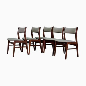 Mid-Century Danish Teak Chairs, 1960s, Set of 5