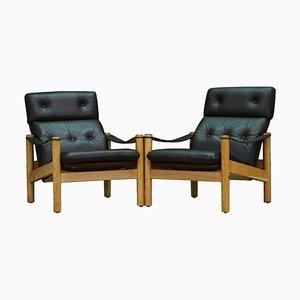Danish Modern Leather Armchair, 1960s