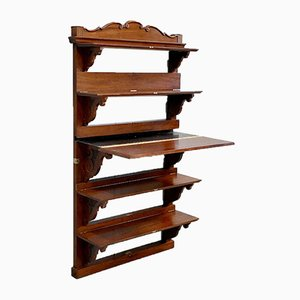 Late-19th Century Mahogany Wall Shelf or Secretaire Stand