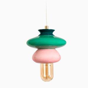 Petite Lampe à Suspension Série Apilar Rose de Studio Noa Razer