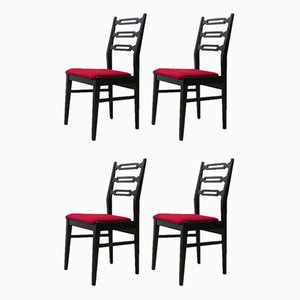 Mid-Century Scandinavian Dining Chairs, Set of 4
