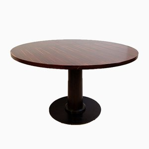 Macassar Ebony Round Dining Table