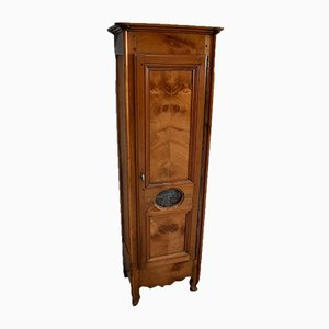 Narrow Birch Louis XV Regional Storage Cabinet, 1830s
