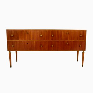 Credenza in Mahogany and Brass by Paolo Buffa, 1950s