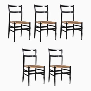 Mid-Century Armchairs by Gio Ponti for Cassina, Set of 5
