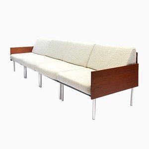 Mid-Century Modular Sofa in Crackle Fabric