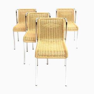 Verchromte Vintage Esszimmerstühle, 4er Set