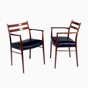 Rosewood Dining Chairs by Arne Wahl Iversen for Glyngøre Stolefabrik, 1960s, Set of 6