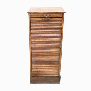 Vintage Apothecary Cabinet with Handmade Sliding Shutter Door, 1940s