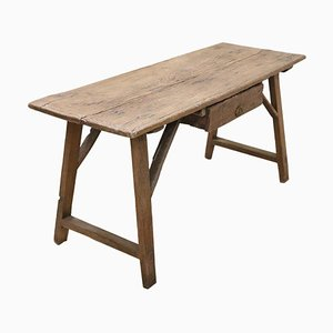 Antique Italian Tuscan Fratino Table or Desk in Solid Oakwood, 1680s