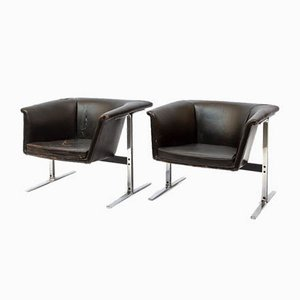 Vintage Model 042 Lounge Chairs by Geoffrey Harcourt for Artifort, Set of 2