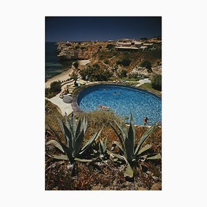 Algarve Hotel Pool Oversize C Print Framed in White by Slim Aarons